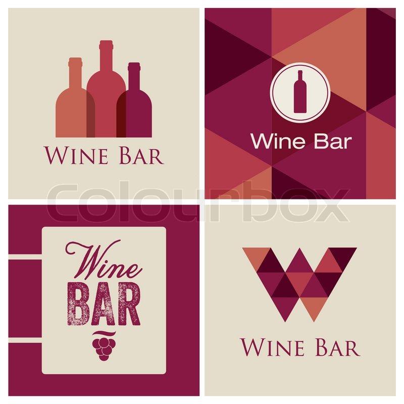 Bar Restaurant Logo Design Stock Vector of 39 Wine Bar Restaurant Logo Design Illustration Vector 39