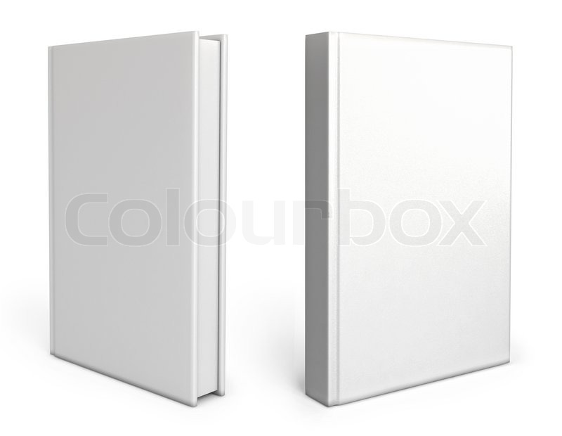 Blank White Book Cover : Front view of blank book cover white background d
