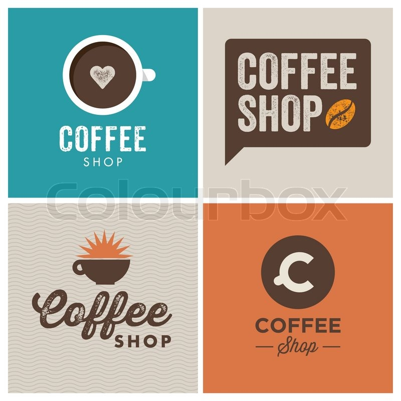 Vintage Coffee Shop Logo Coffee Shop Design Logo