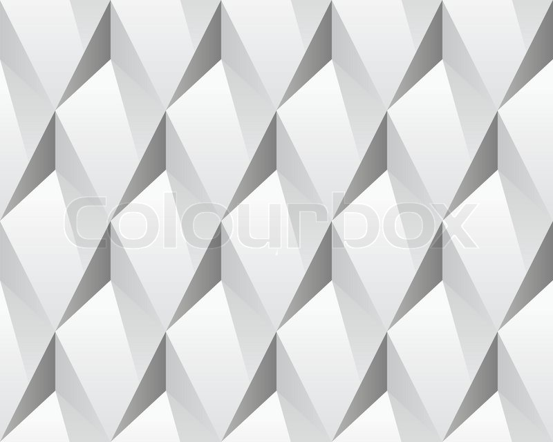 White 3d Abstract Seamless Texture Stock Vector