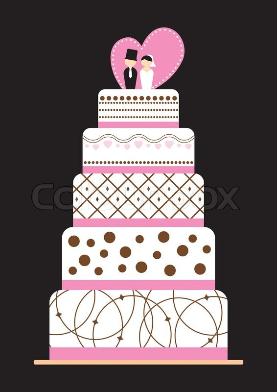 wedding cake box design vector wedding cake stock vector colourbox 22061