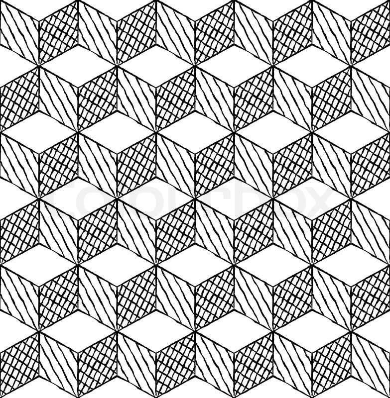 Black And White Cubes Puzzle Nahtlose Vektorgrafik Colourbox