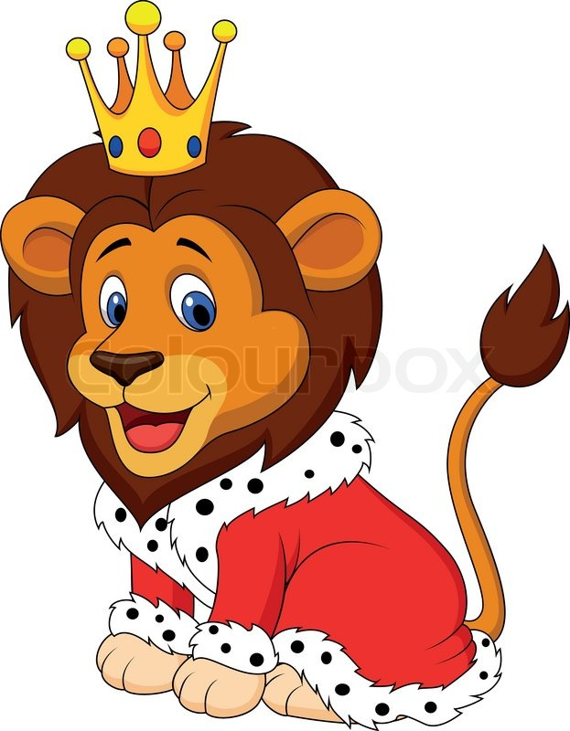 vector illustration of cartoon lion in king outfit stock lion king clipart for download lion king clipart for download