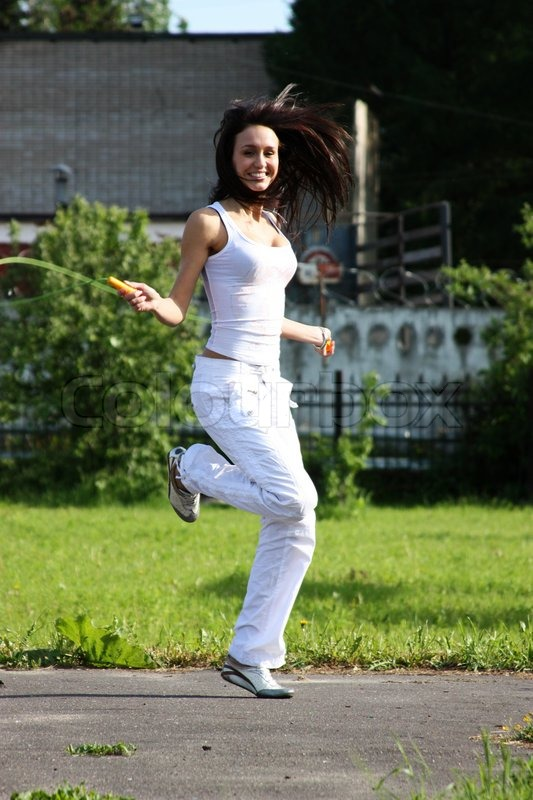 jump for joy stock photo colourbox