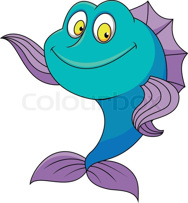 Cartoon Fish Face Cute Fish Cartoon Waving 39