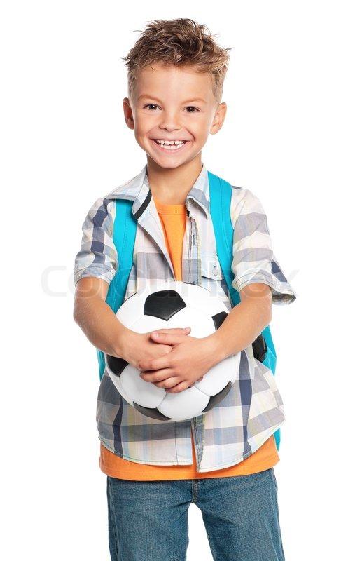 4e54e544960 Dreng med fodbold | Stock foto | Colourbox