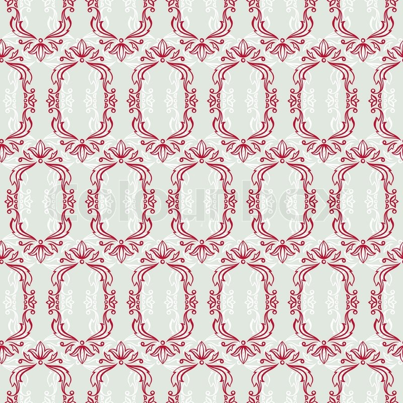 Seamless Vintage Wallpaper Floral Stock Vector