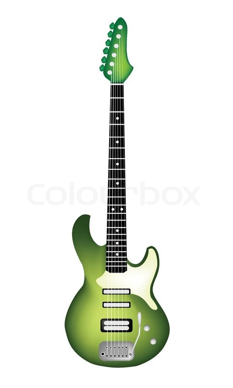 lovely heavy metal electric guitar on white background stock vector colourbox. Black Bedroom Furniture Sets. Home Design Ideas