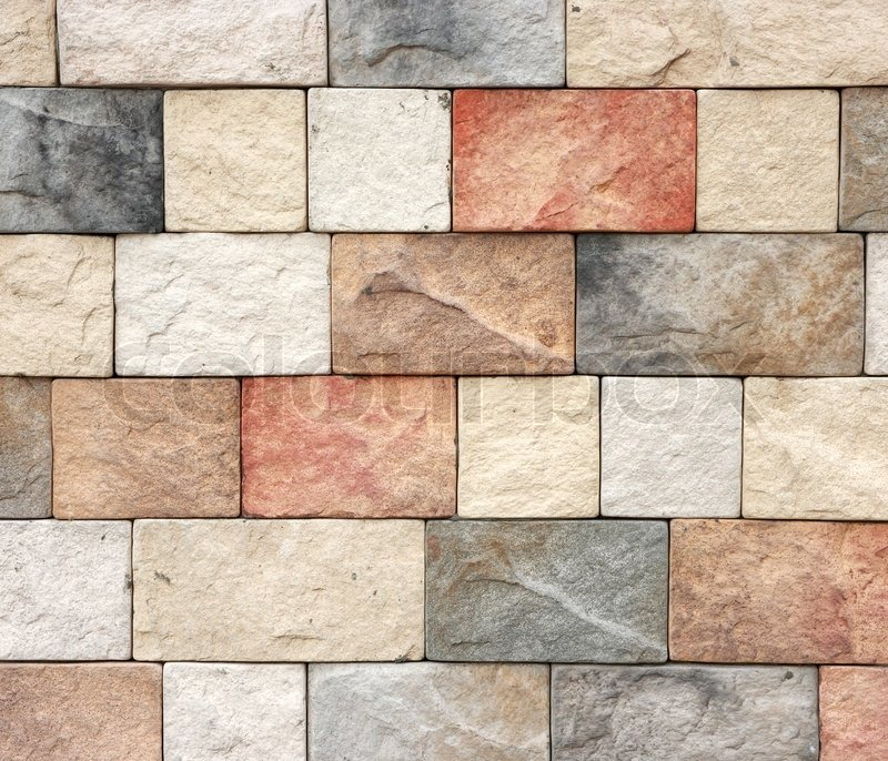 Decorative Brick Wall Design : Colorful texture of sandstone brick wall texturepattern