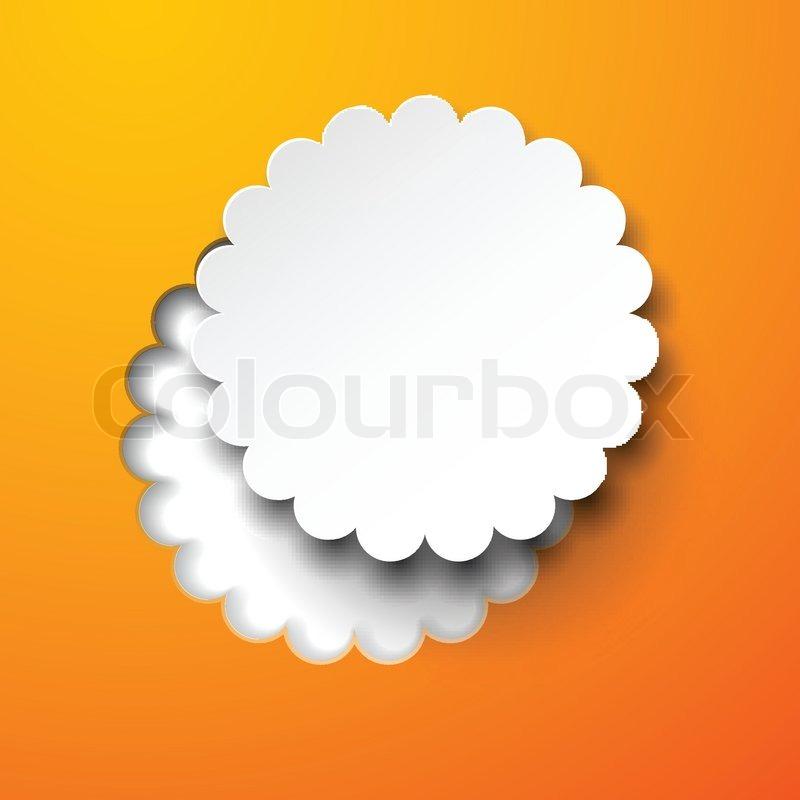Papier weiß runde Blume note | Vektorgrafik | Colourbox