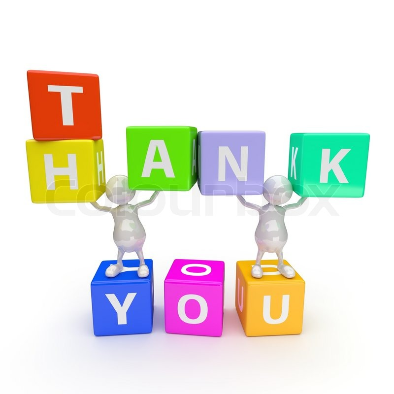 3d people with word thank you stock photo colourbox