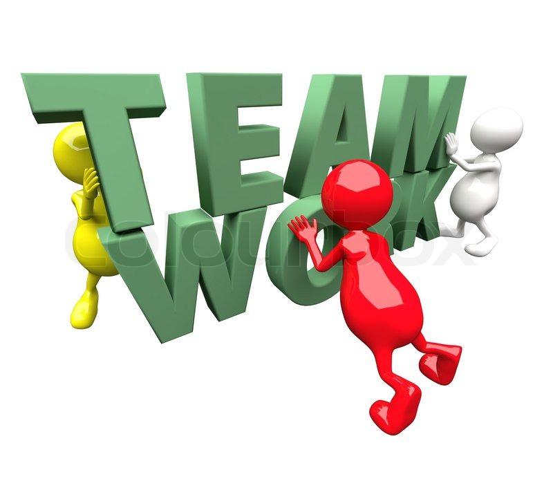 3d people arbejde p green teamwork word stock foto colourbox. Black Bedroom Furniture Sets. Home Design Ideas