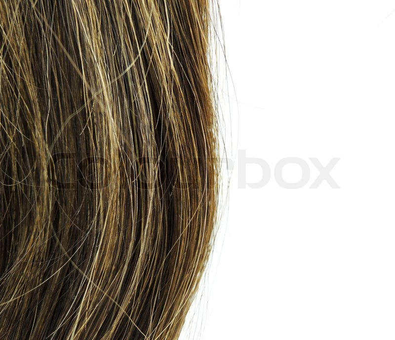 Brown woman hair texture with sample text, stock photo
