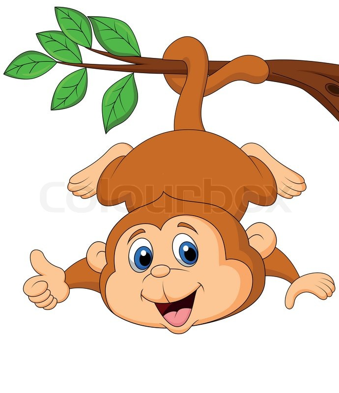 Cute Monkey Cartoon Hanging On A Tree Stock Vector Colourbox Are you searching for monkey cartoon png images or vector? cute monkey cartoon hanging on a tree