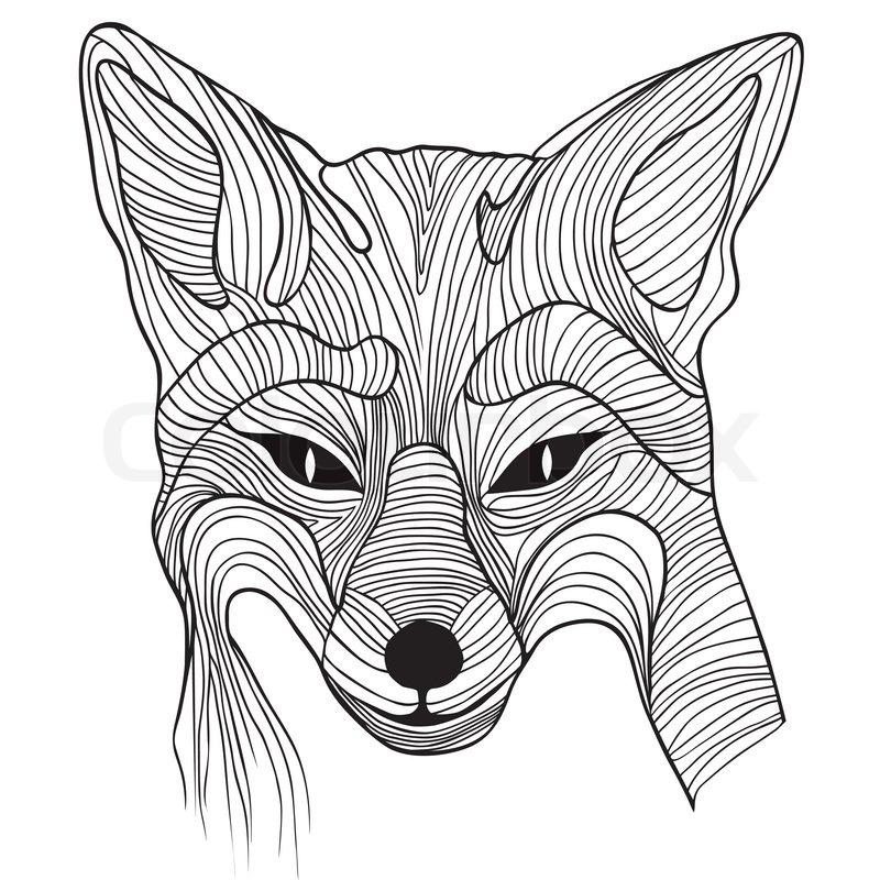 Fox Animal Sketch Tattoo Symbol Illustration Foxy Dog T Shirt
