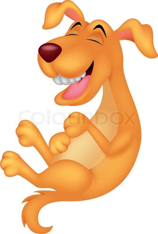 Dog laughing cartoon