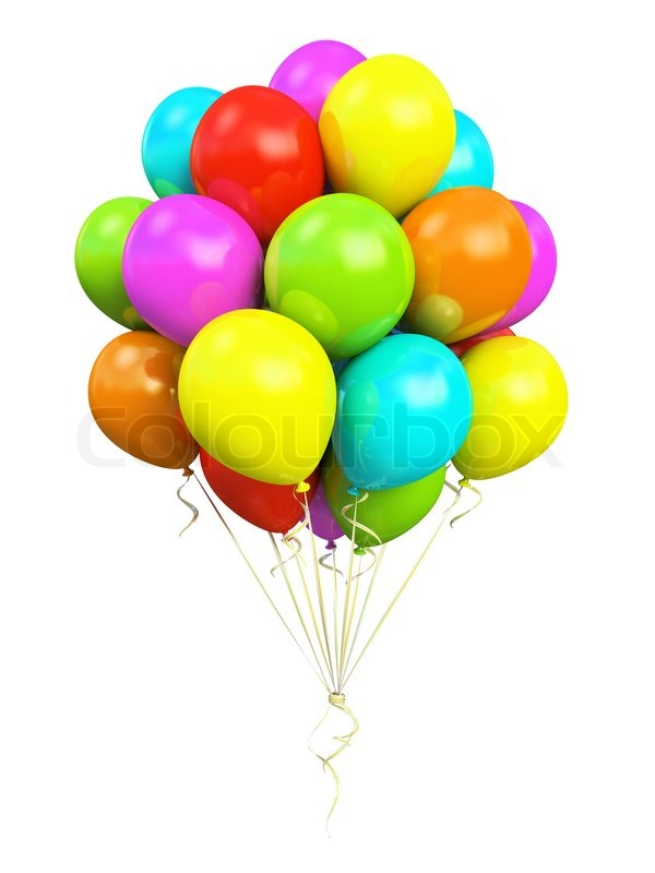 bunch of colorful balloons stock photo colourbox