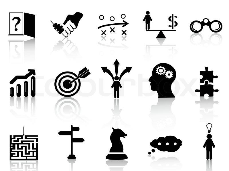 Geschäftsstrategie Icons   Vektorgrafik   Colourbox