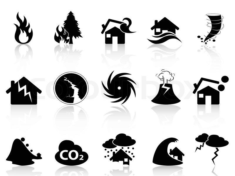 White Natural Disaster Icon