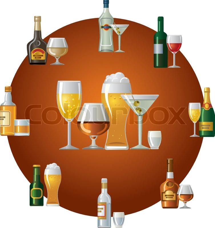 Alkohol Getränke-Symbol | Vektorgrafik | Colourbox