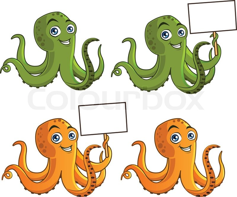Cute Octopus Logo Funny And Cute Octopus Vector