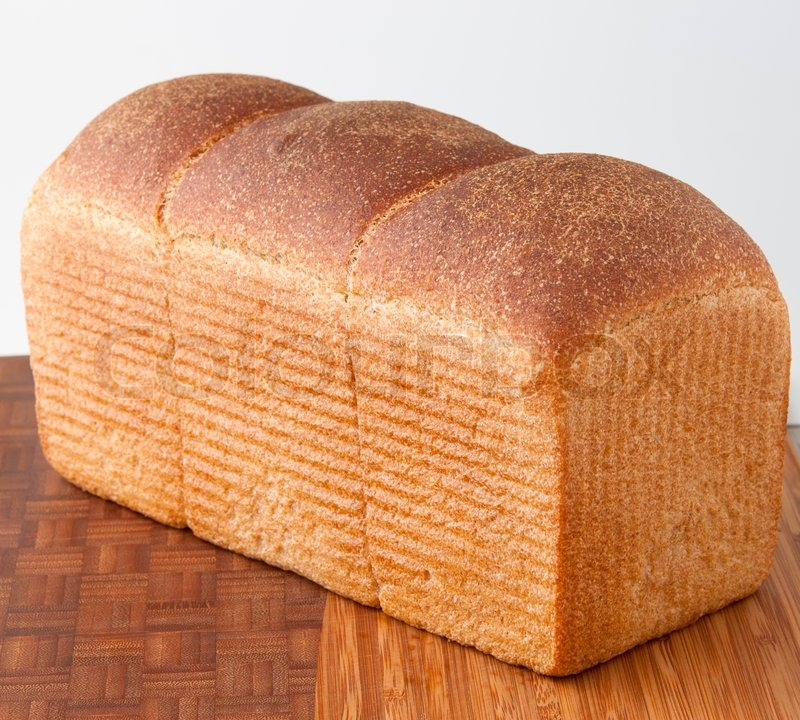 White Bread Loaf Loaf of Fresh White Bread on