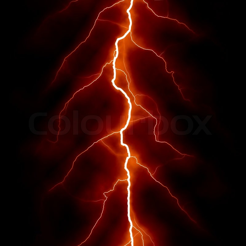 Red Electric Lighting Effect Seamless Abstract Techno Backgrounds For Your Design Stock Photo