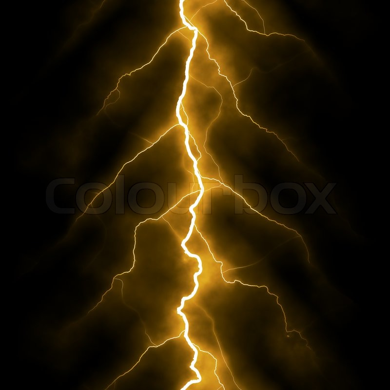 Electric lighting background yellow | Stock Photo | Colourbox