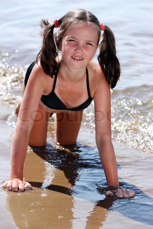 girls beach Very young russian