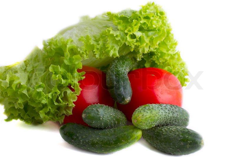 Tomater Og Salat Agurk Stock Foto Colourbox