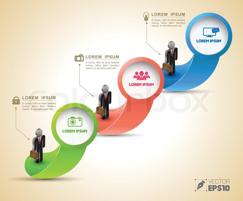 vector arrow for business concepts with icons can use for info graphic loop business concepts