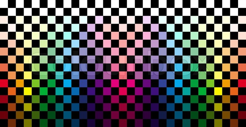 Abstract Colorful Checkered Background Stock Photo