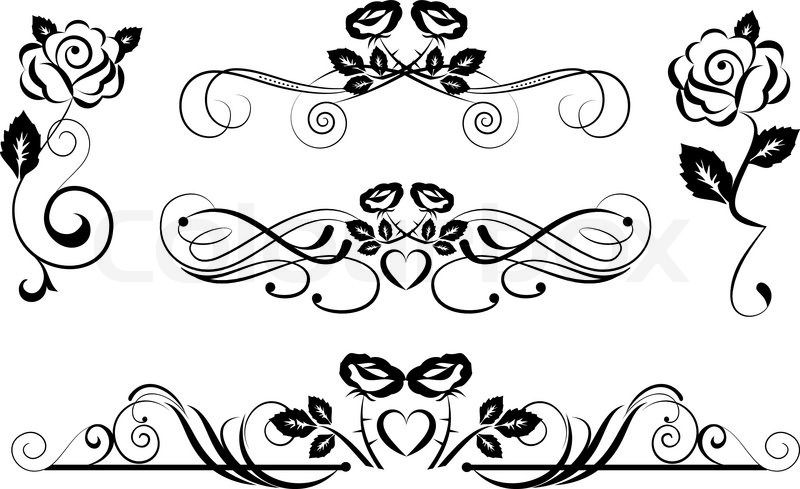 roses dividers clip art - photo #37