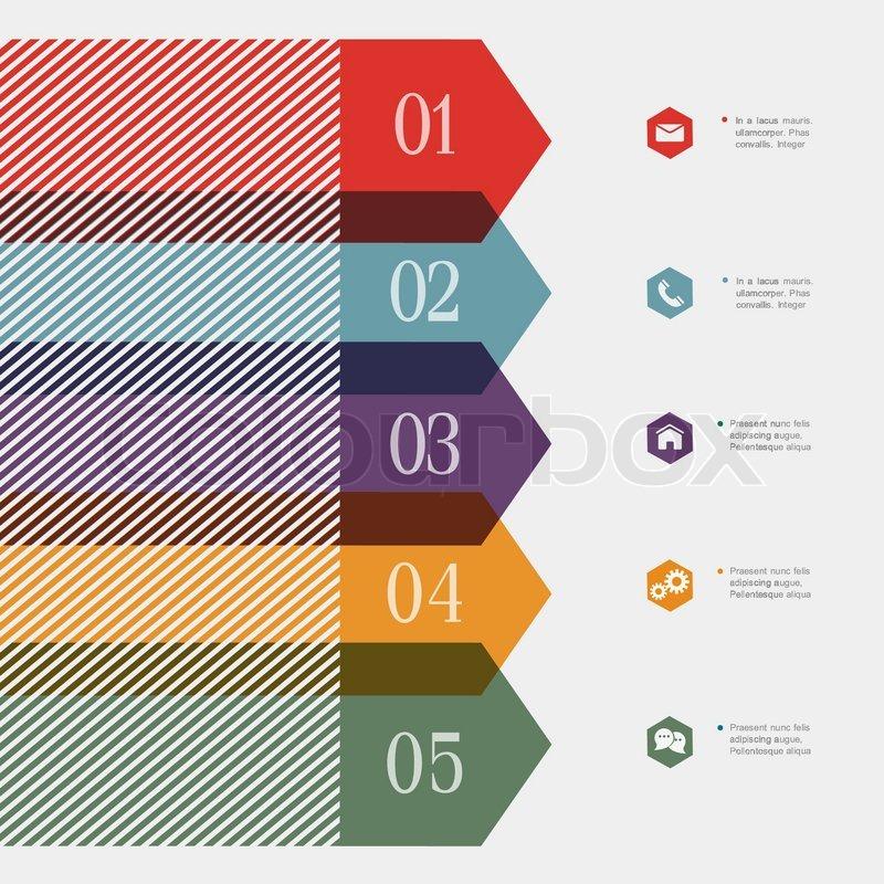 Creative banner arrow design for infographics websit e for Homedigine