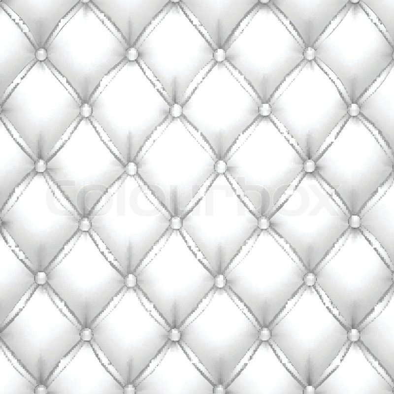Vector Illustration Of White Realistic Upholstery Leather