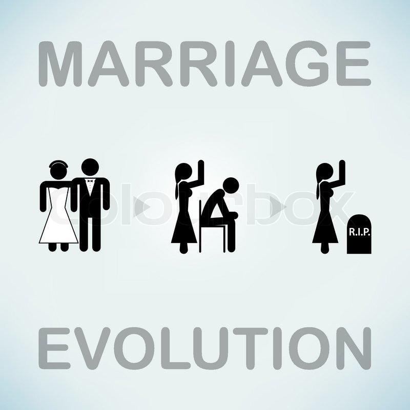 Funny Marriage Vector Symbol Stock Vector Colourbox
