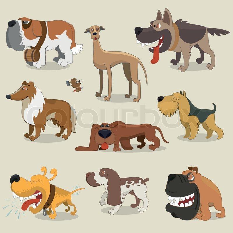 Cartoon hunde kollektion stock vektor colourbox