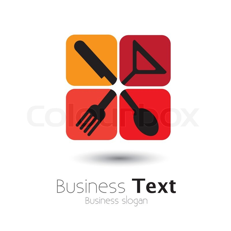 Colorful Icons Of Spoonknifefork Glass Vector Graphic This