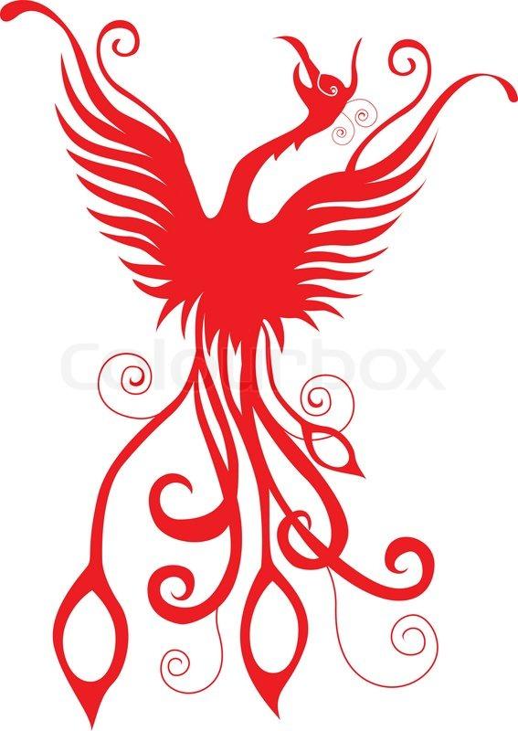 Phoenix bird tattoo tribal for you design stock vector colourbox voltagebd Choice Image