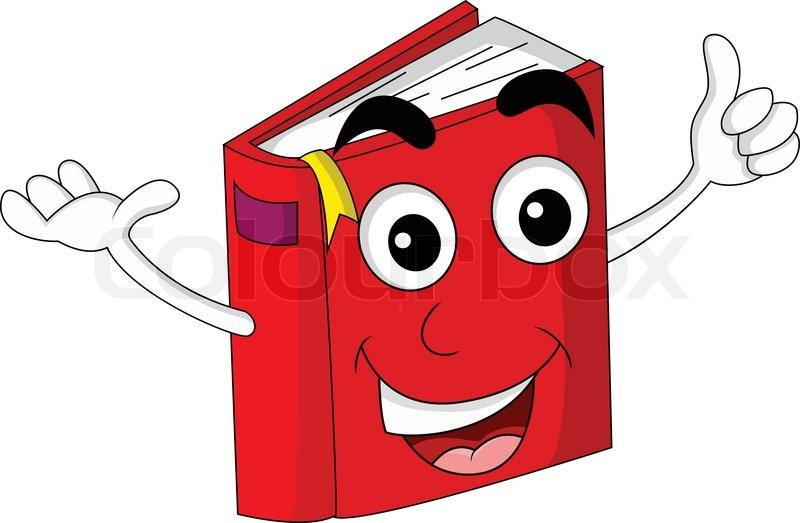 cute red book cartoon stock vector colourbox