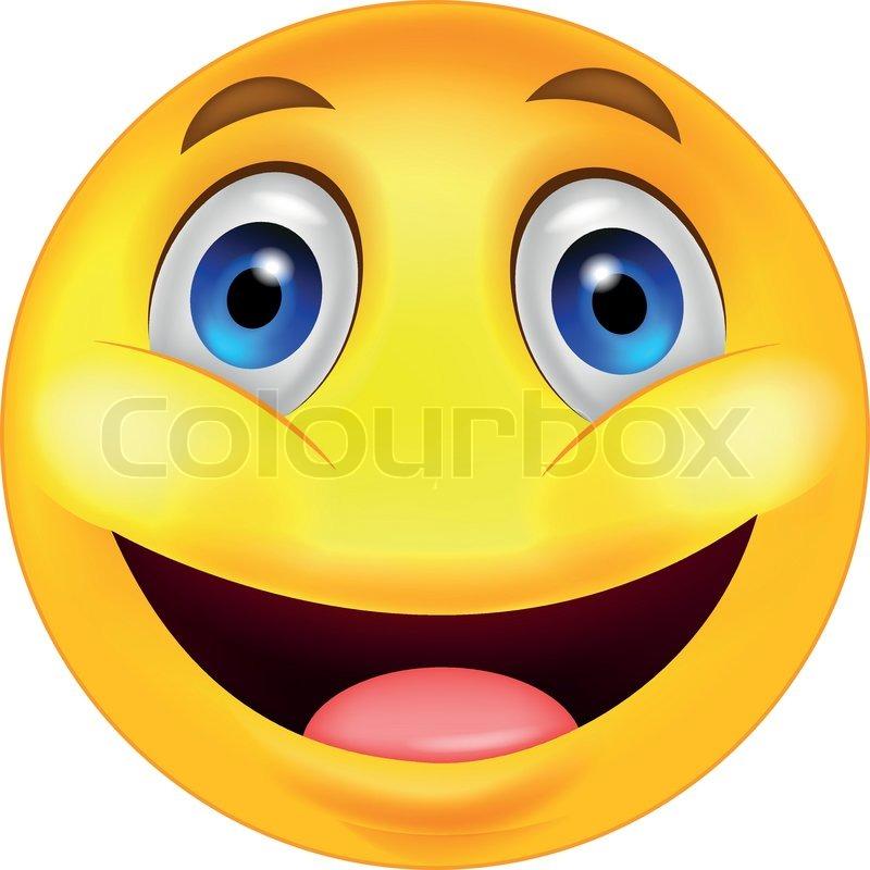 Vector Illustration Of Happy Smiley ...