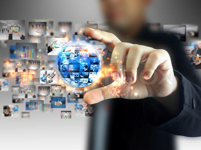 Technology Management Image: Hand Holding Business World