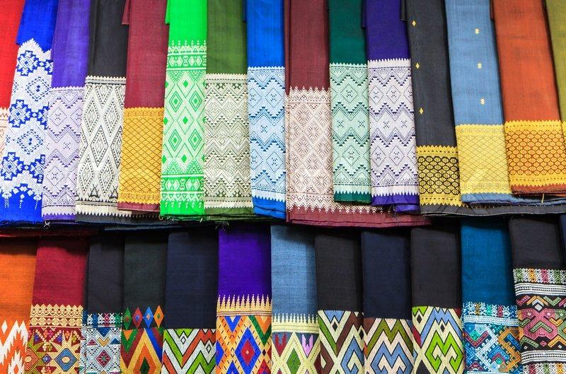 Laos silk ,Product of handmade, stock photo