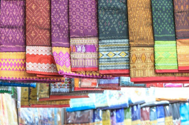 Laos silk ,handmade Product, stock photo