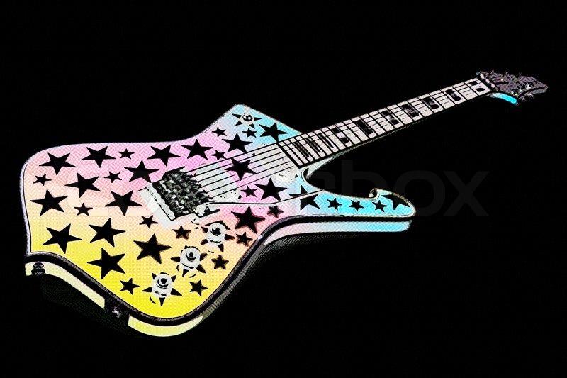 E-Gitarre blau   Stockfoto   Colourbox