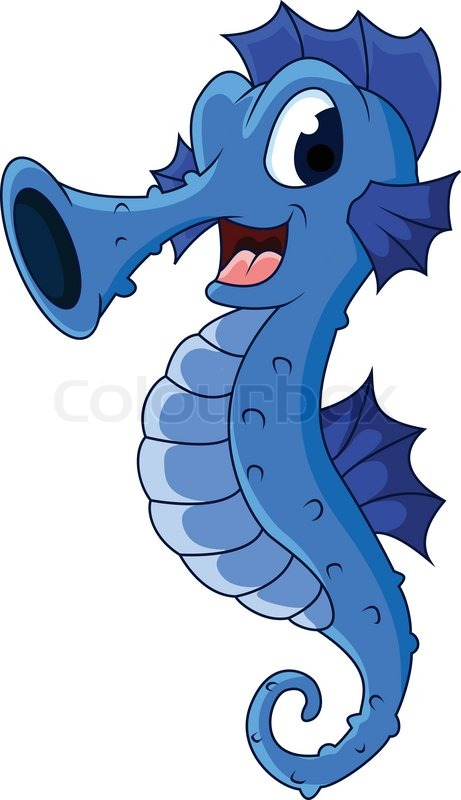 cute seahorses cartoon stock vector colourbox ocean life clipart free ocean life clip art for preschoolers