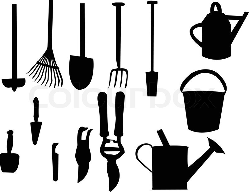 tools items for of photo gardening vector tool flat stock garden design illustration