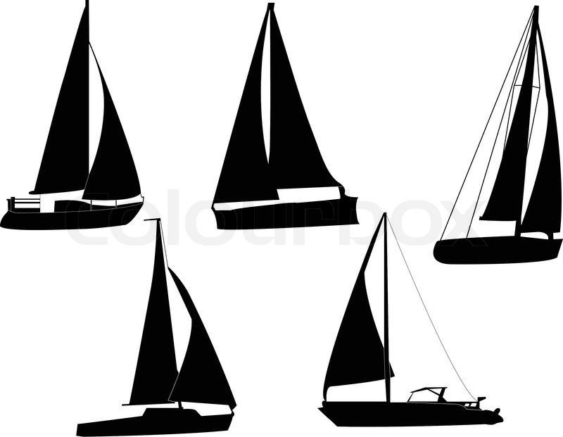 sail boats silhouette vector stock vector colourbox rh colourbox com pirate ship silhouette vector ship silhouette vector free