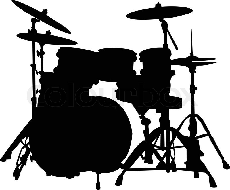 Drums silhouette - vector | Stock Vector | Colourbox