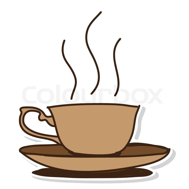 Kaffeetasse Hand Gezeichnet Vektorgrafik Colourbox